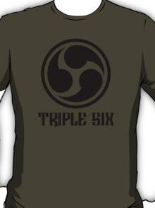 666 Triple Six + Font (black) T-Shirt