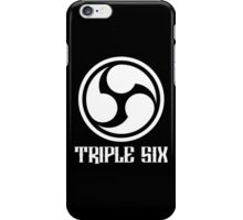 666 Triple Six + Font (white) iPhone Case/Skin