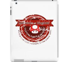 Mushroom Kingdom Custom Karts (Distressed Version) iPad Case/Skin