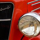 Red Hotrod Head light by Norman Repacholi