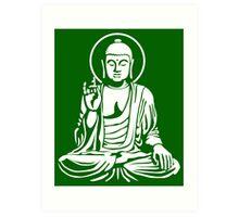 Young Buddha No.1 (white) Art Print