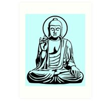 Young Buddha No.1 (black) Art Print