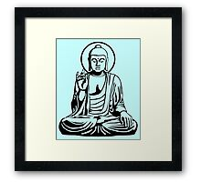 Young Buddha No.1 (black) Framed Print