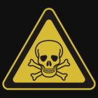 Poison Symbol Warning Sign - Yellow & Black - Triangular by graphix