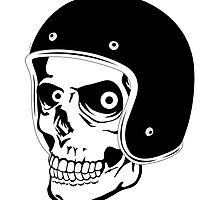 Skull with Helmet - Safety First! by cartoon