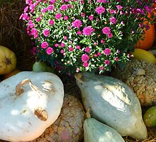 Mums & Gourds by WildestArt