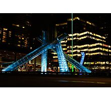 Vancouver - 2010 Olympic Cauldron Lit at Night Photographic Print