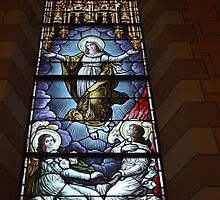 Stained Glass Window, St. Anthony of Padua Church, Jersey City, New Jersey  by lenspiro