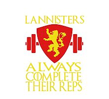 Lannister Workout Photographic Print