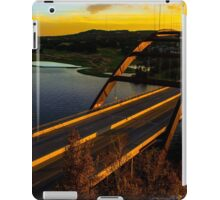 360 Bridge or Pennybacker At Sunset with Golden Highlights iPad Case/Skin