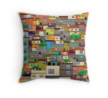 Favela, Brazil Throw Pillow
