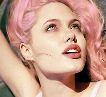 pink-haired angelina jolie by kittyholocaust