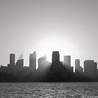 Sydney's Evening B/W by Jola Martysz