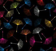 Dandelions seed pattern by Richard Laschon