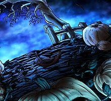 Halloween - Hunted Pumpkin Field by mayoku