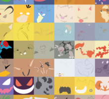 All 150 Catchable Pokemon Wallpapers Sticker