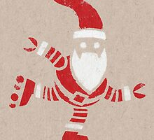 Roller Skating Robot Santa by Richard Morden