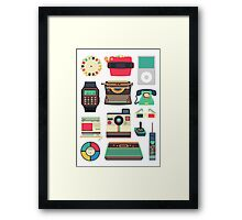 Retro Technology 2.0 Framed Print