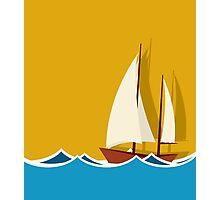 Sailing boat background Photographic Print