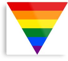 LGBT triangle flag Metal Print