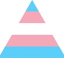 Transgender triangle flag by Margotte