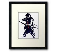 blue arrow Framed Print