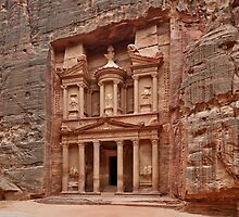 the treasury Nabataean ancient town Petra by travel4pictures