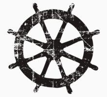 Steering Wheel Vintage Sailing Design Kids Clothes