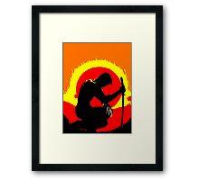 wolverinesunset Framed Print