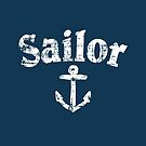 Sailor Anchor Vintage Sailing Design (White) by theshirtshops