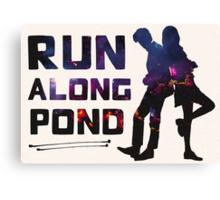 Run Along Pond Canvas Print