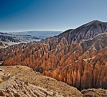 Red rock formations in the Canon Del Inca by travel4pictures