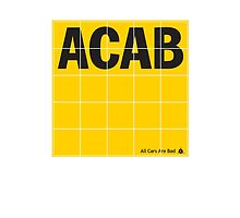 ACAB - ADAC (all cars are bad) logo by e-gruppe