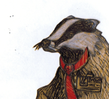 Badger with a Badge Sticker
