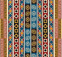 Tribal  Aztek pattern by Richard Laschon