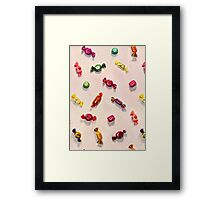 Sweet Candy Painted Pattern Framed Print