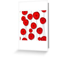 Red poppies pattern Greeting Card