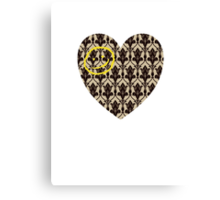 Sherlock Loveheart Canvas Print