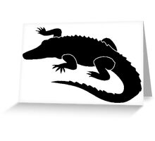 Alligator Silhouette Greeting Card