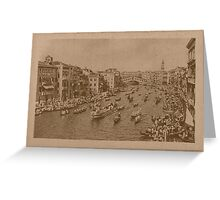 Regate on the Grand Canal,Venice,Italy Greeting Card