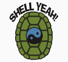 Shell Yeah Blue Sticker Kids Clothes