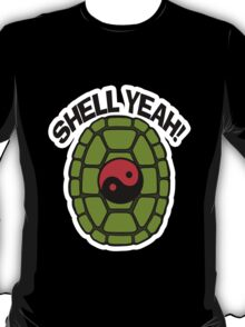 Shell Yeah Red Sticker T-Shirt