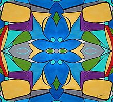 Merging Shapes Two by Ruth Palmer