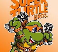 Super Turtle Bros - Mikey by moysche
