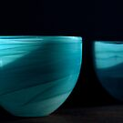 Jennifer's Turquoise Bowls by Kent Nickell