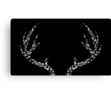 Dear Deer (Black) Canvas Print