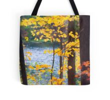 Autumn by the River Tote Bag