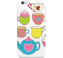 Teapots, cupcakes & more iPhone Case/Skin