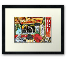"""Dos Kahunas....We Be Jammin' Framed Print"