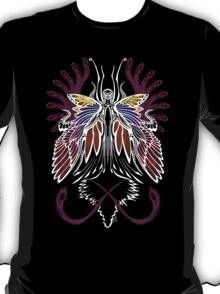 Mab the Queen of Fey (bold white and pale purple) T-Shirt